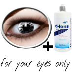 Black white contact lenses (spider) product image