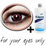 red contact lenses (Redwolf) product image