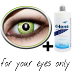 Green contact lenses (Electro Green)