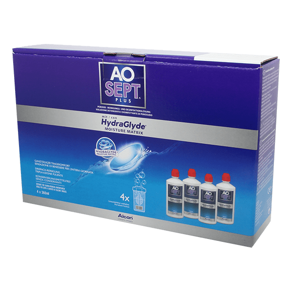 AOSEPT PLUS with HydraGlyde 4x360ml product image